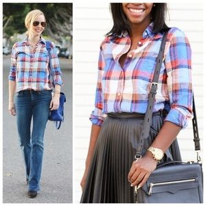 J. CREW Pacey Plaid Flannel Top Button Down Shirt